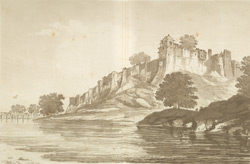A View of the Fort of Jinopoor upon the Banks of the River Goomty